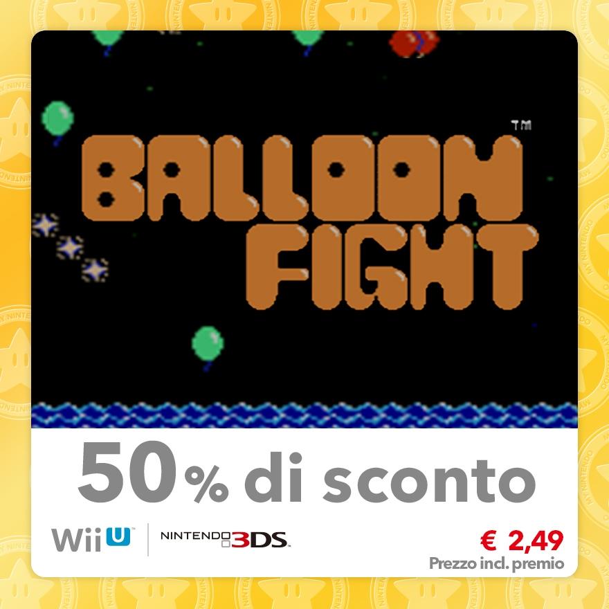 Sconto del 50% su Balloon Fight (Virtual Console NES)