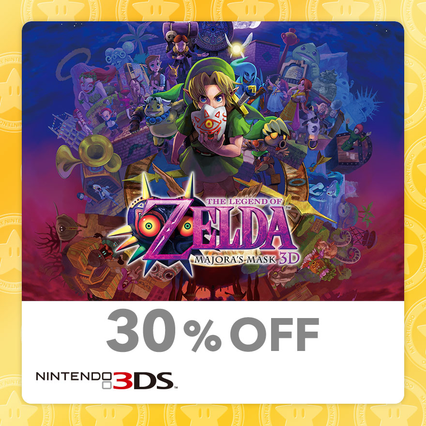 30% Discount on The Legend of Zelda: Majora's Mask 3D (Nintendo 3DS)