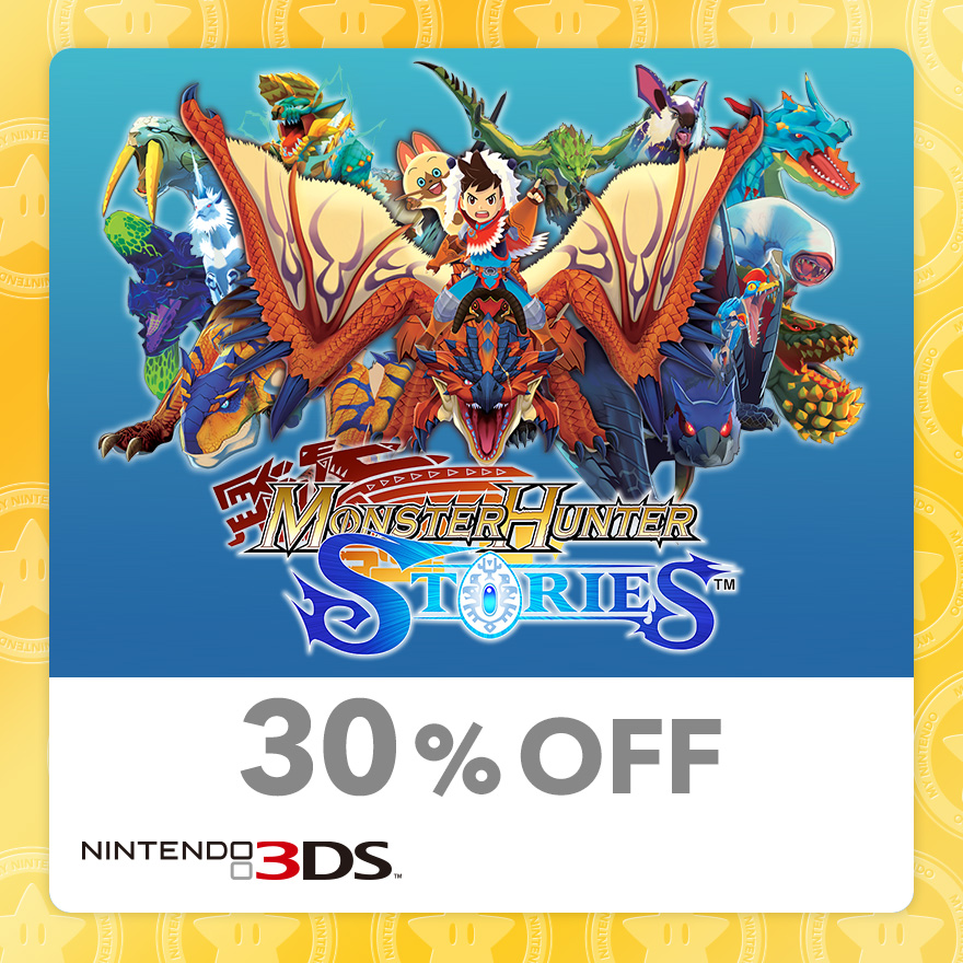 30% Discount on Monster Hunter Stories™ (Nintendo 3DS)