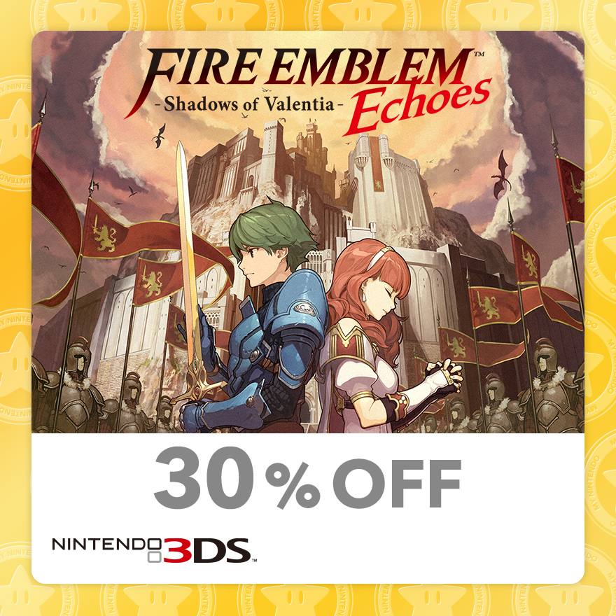 30% Discount on Fire Emblem™ Echoes: Shadows of Valentia (Nintendo 3DS)