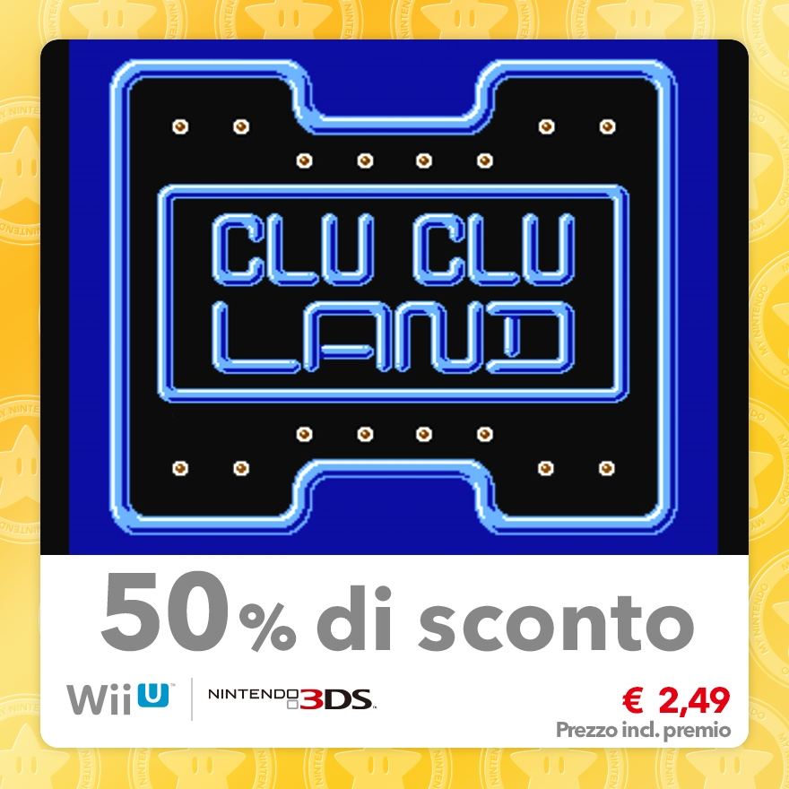 Sconto del 50% su Clu Clu Land (Virtual Console NES)