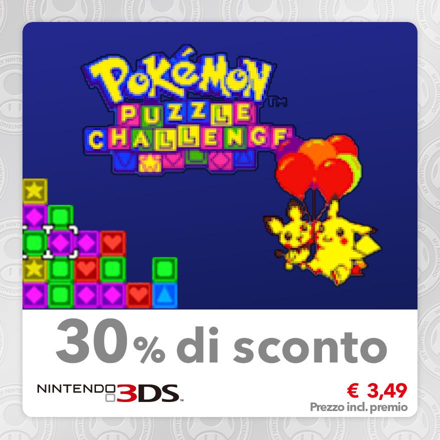 Sconto del 30% su Pokémon Puzzle Challenge (Virtual Console GBC)