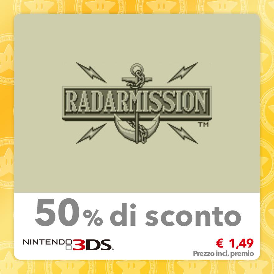 Sconto del 50% su Radar Mission (Virtual Console GB)