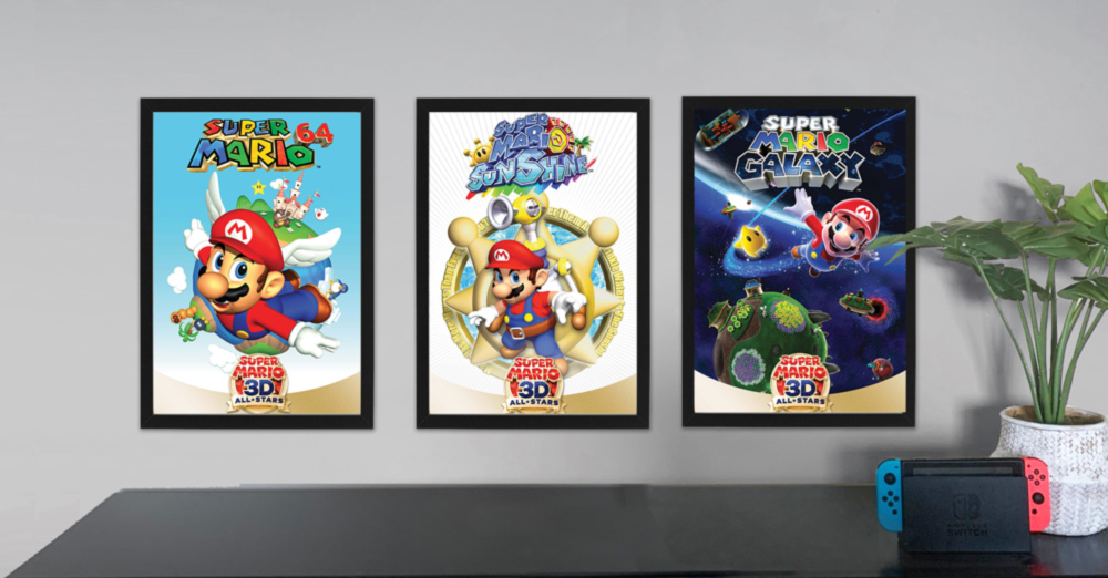 Super Mario 3D All-Stars poster set