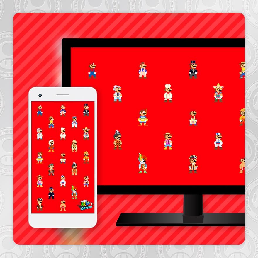 Sfondo - Super Mario Odyssey (Mario 8-bit)