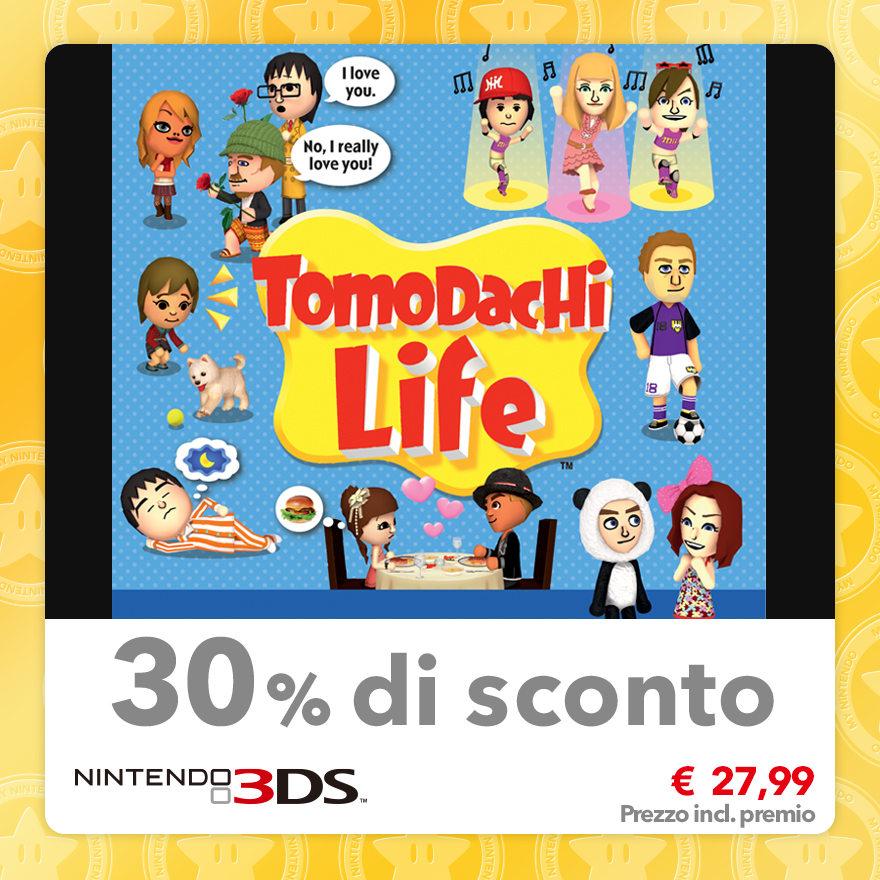 Sconto del 30% su Tomodachi Life