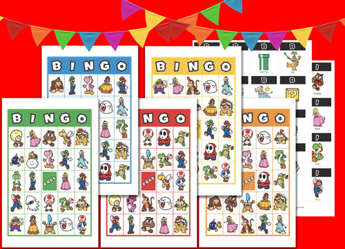photograph relating to Letter Bingo Printable identified as Printable - Mario 20 Bingo Playing cards Advantages My Nintendo