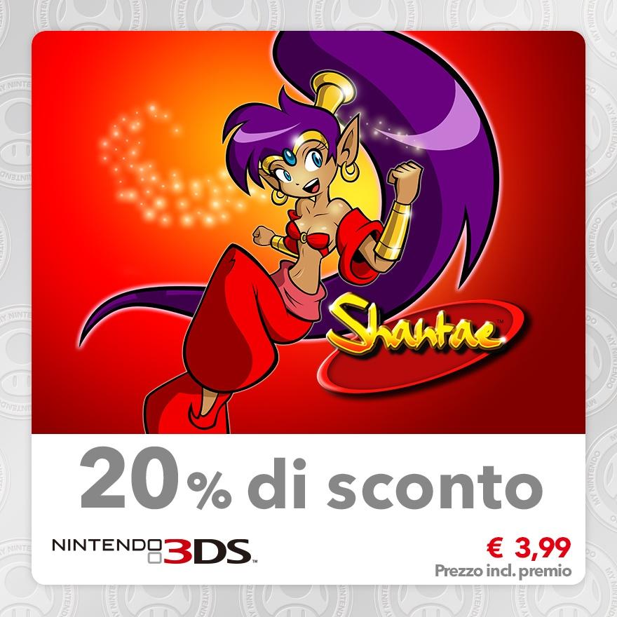 Sconto del 20% su Shantae (Virtual Console GBC)
