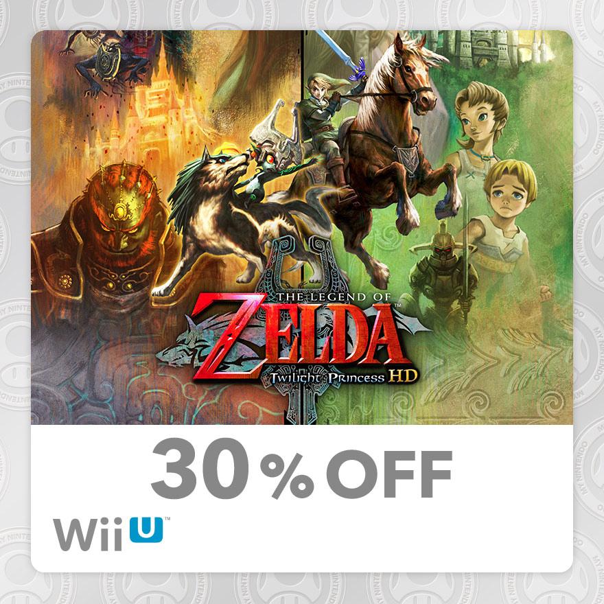 30% Discount on The Legend of Zelda™: Twilight Princess HD (Wii U)