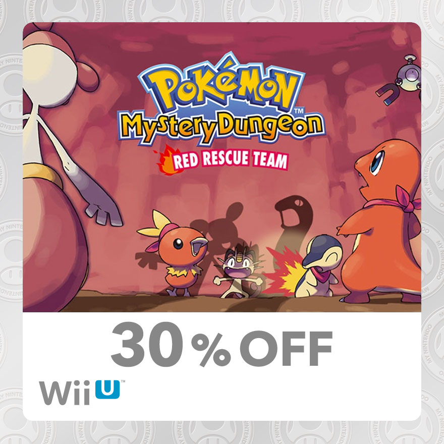 30% Discount on Pokémon™ Mystery Dungeon: Red Rescue Team