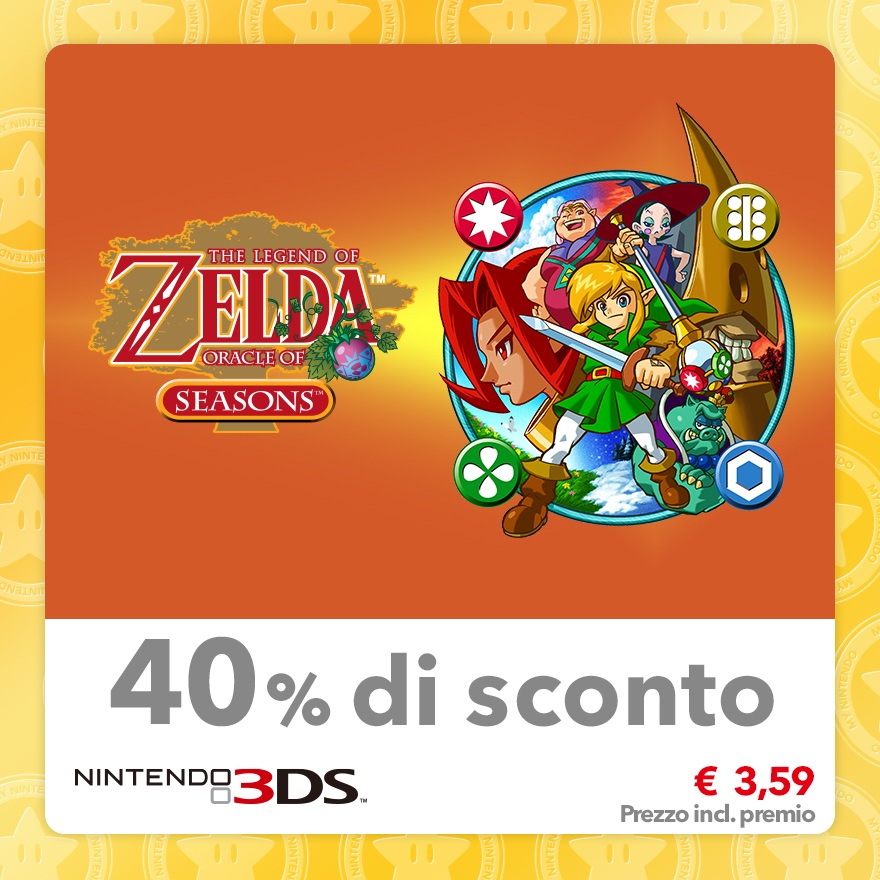 Sconto del 40% su The Legend of Zelda: Oracle of Seasons (Virtual Console GBC)