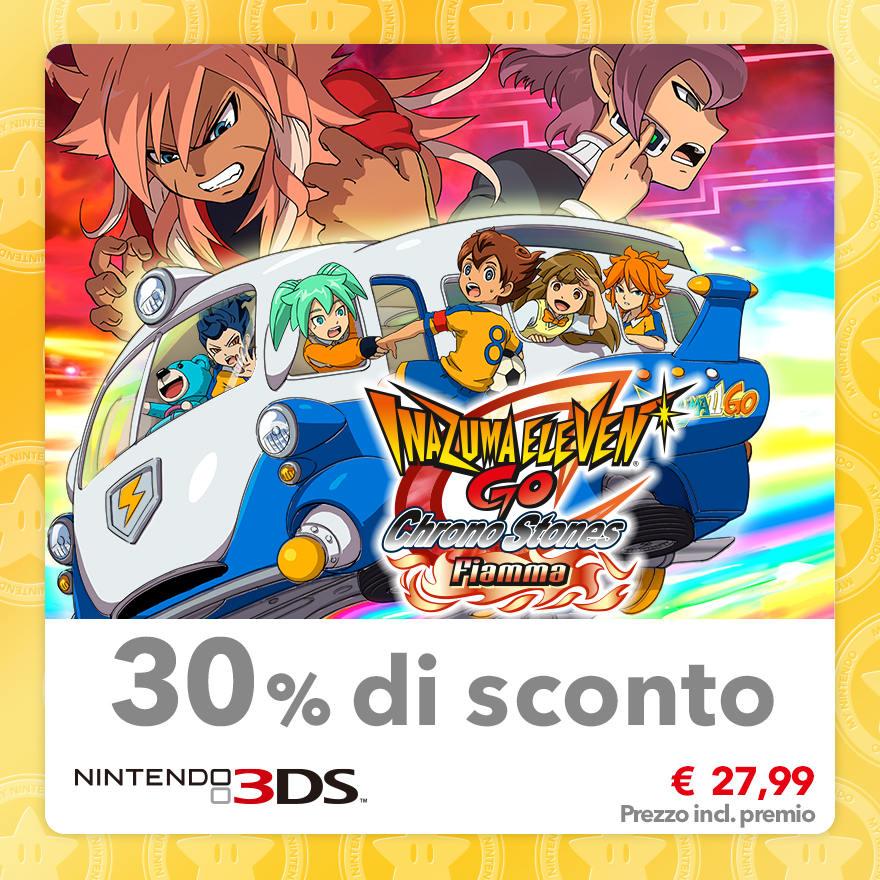 Sconto del 30% su Inazuma Eleven GO Chrono Stones: Fiamma