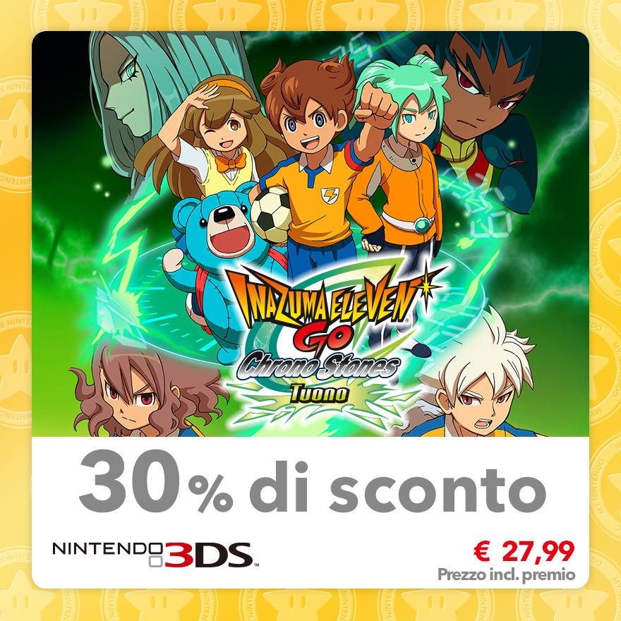 Sconto del 30% su Inazuma Eleven GO Chrono Stones: Tuono