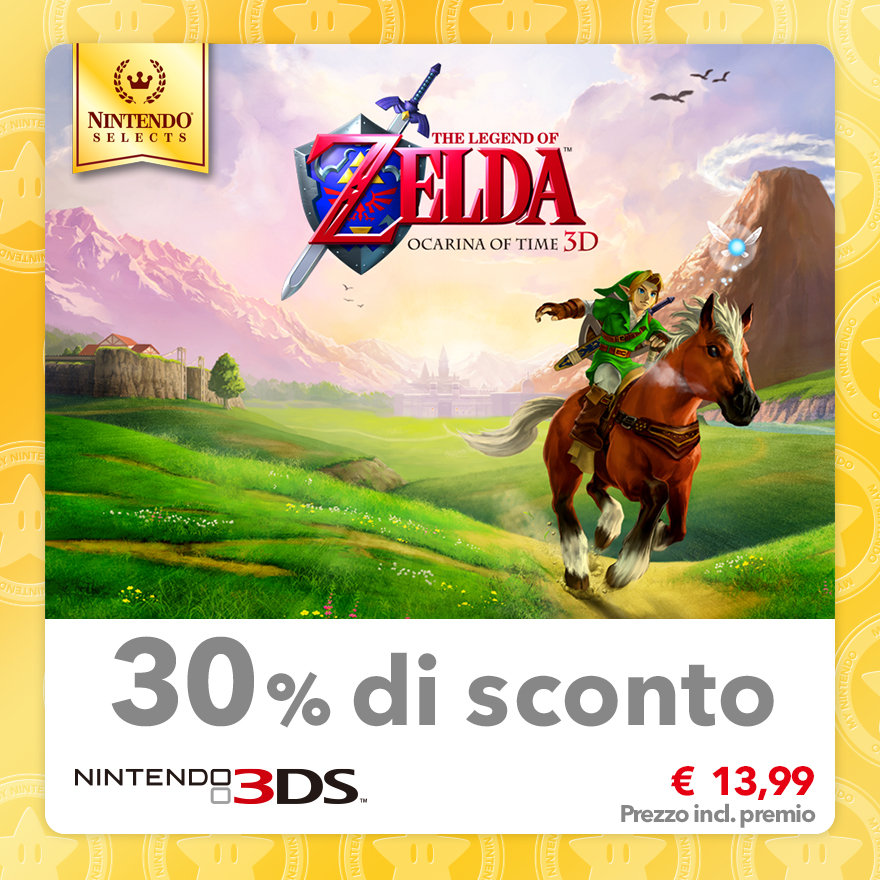 Sconto del 30% su Nintendo Selects: The Legend of Zelda: Ocarina of Time 3D