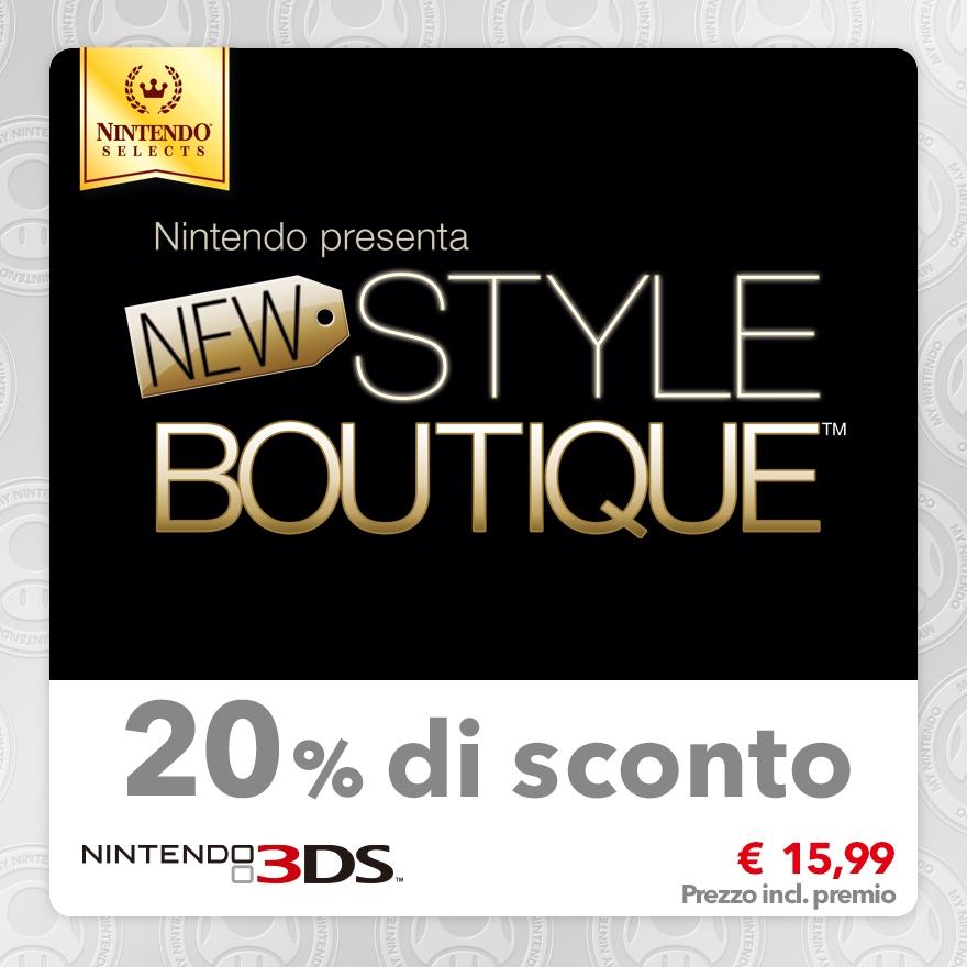 Sconto del 20% su Nintendo Selects: Nintendo presenta New Style Boutique™