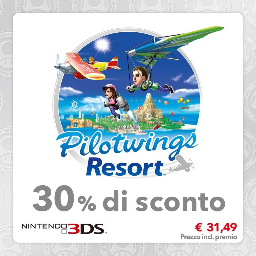 Sconto del 30% su Pilotwings Resort