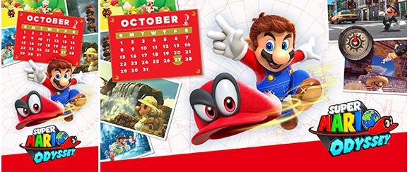 October Calendar Super Mario Odyssey Rewards My Nintendo