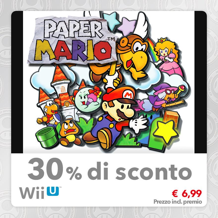 Sconto del 30% su Paper Mario (Virtual Console N64)