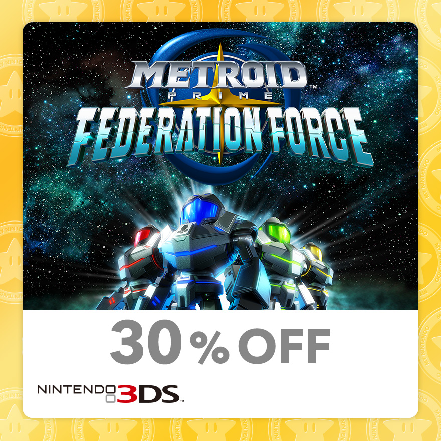30% Discount on Metroid Prime™: Federation Force (Nintendo 3DS)