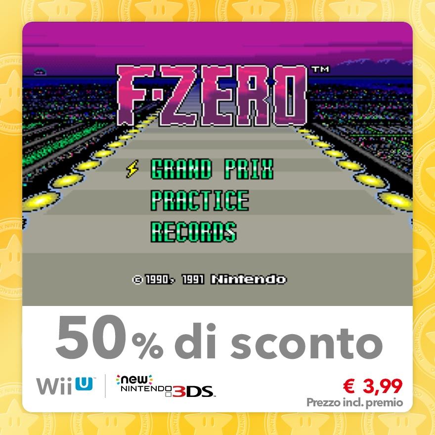 Sconto del 50% su F-ZERO (Virtual Console SNES)