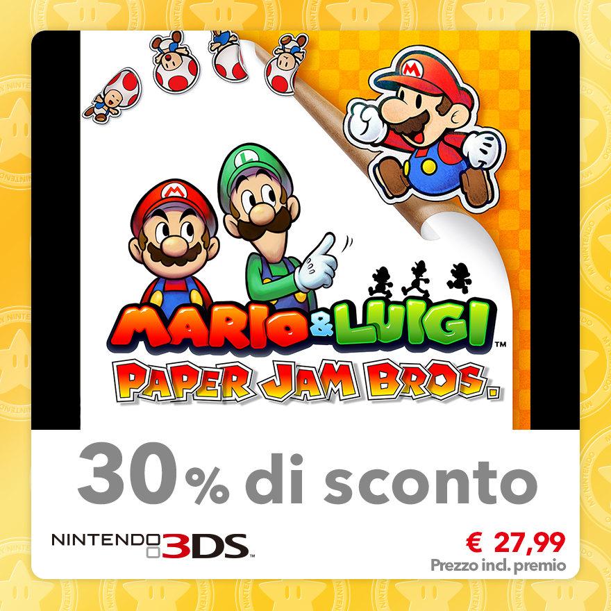 Sconto del 30% su Mario & Luigi: Paper Jam Bros.