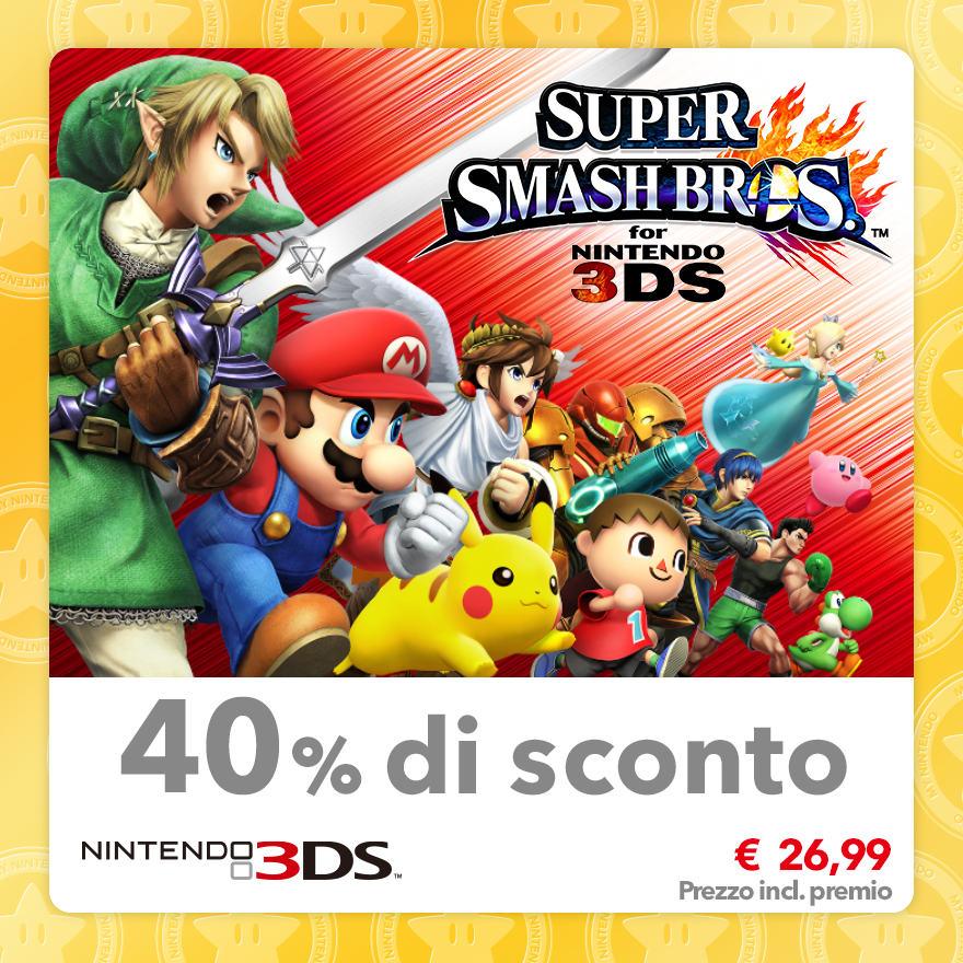 Sconto del 40% su Super Smash Bros. for Nintendo 3DS