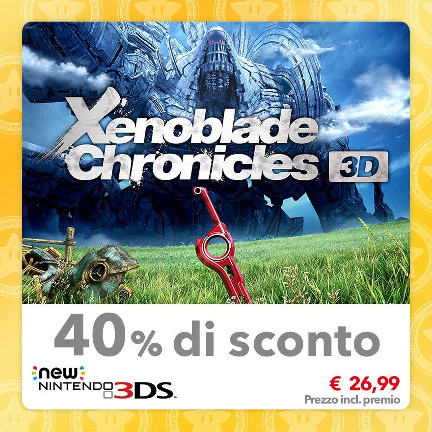 Sconto del 40% su Xenoblade Chronicles 3D