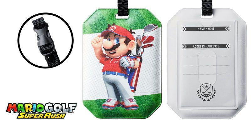 Mario Golf Super Rush Luggage Tag