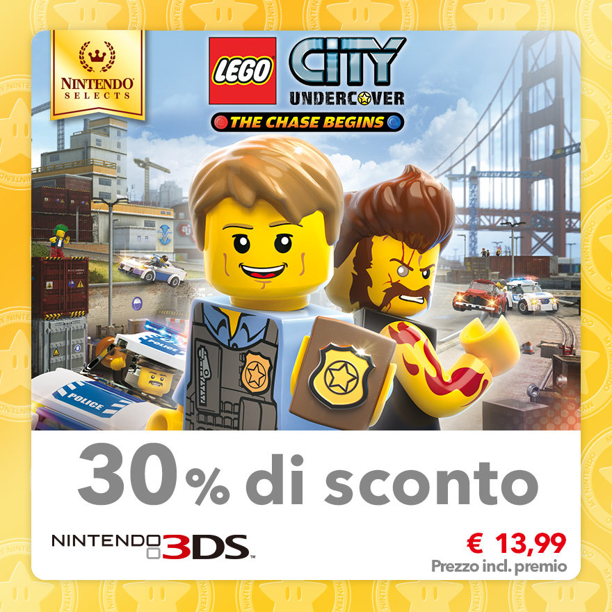 Sconto del 30% su Nintendo Selects: LEGO CITY Undercover: The Chase Begins