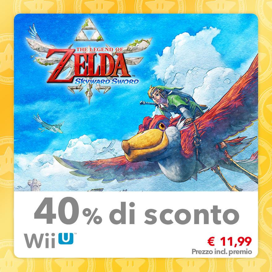 Sconto del 40% su The Legend of Zelda: Skyward Sword
