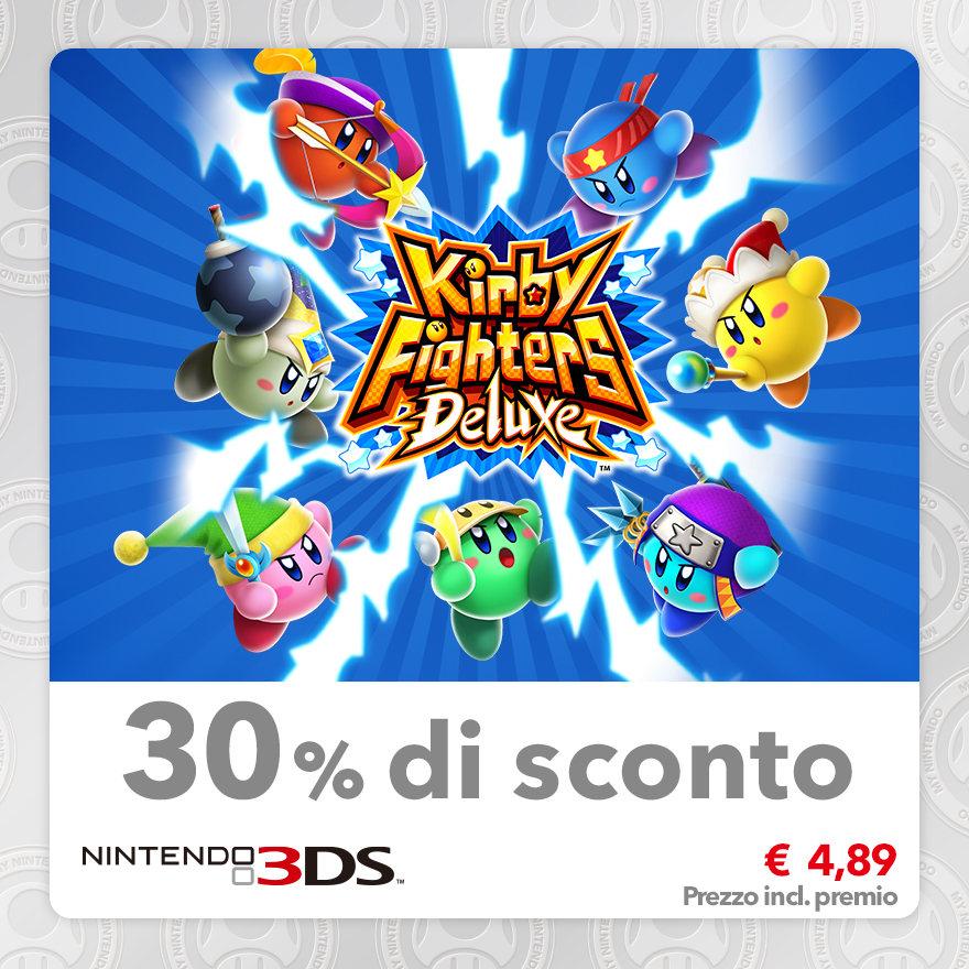 Sconto del 30% su Kirby Fighters Deluxe
