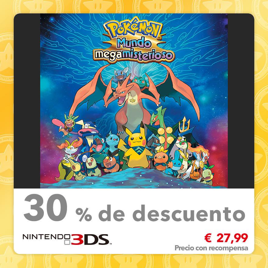 30 % de descuento en Pokémon Mundo megamisterioso