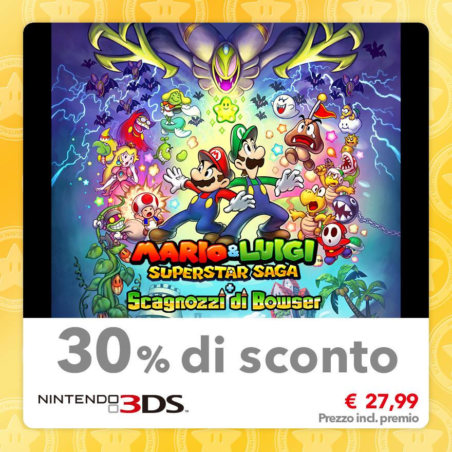 Sconto del 30% su Mario & Luigi: Superstar Saga + Scagnozzi di Bowser
