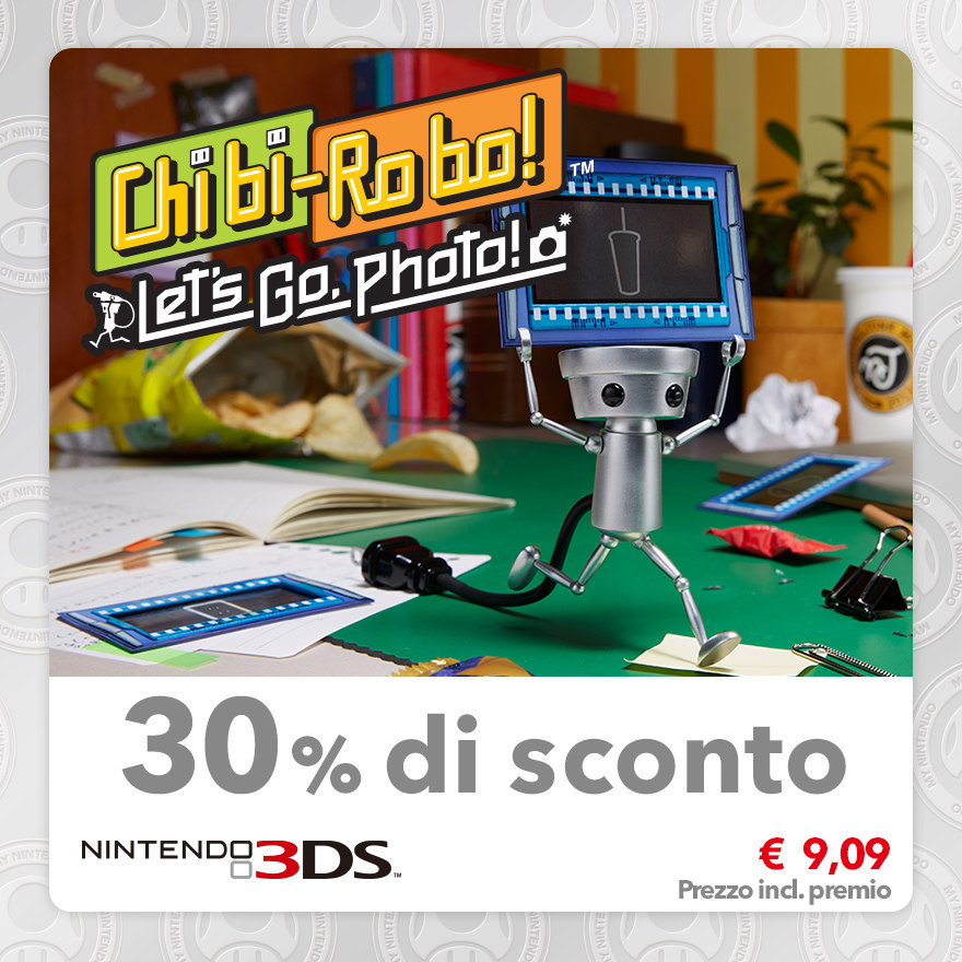 Sconto del 30% su Chibi-Robo! Let's Go, Photo!
