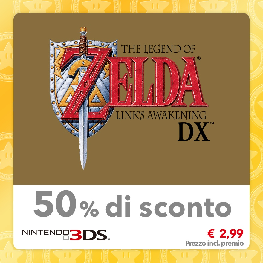 Sconto del 50% su The Legend of Zelda: Link's Awakening DX (Virtual Console GBC)