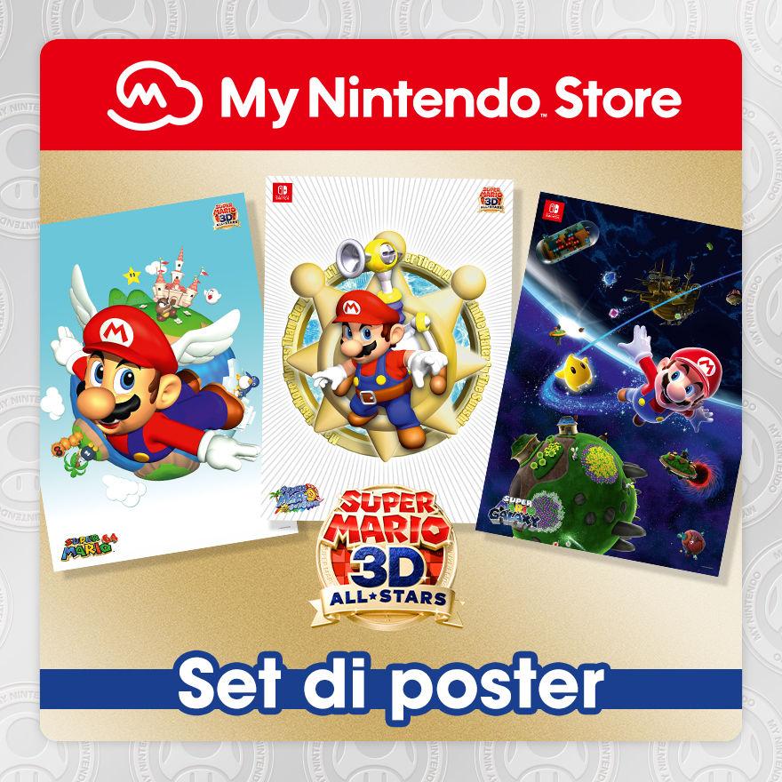 Set di poster di Super Mario 3D All-Stars