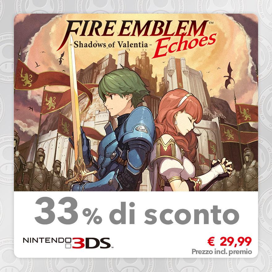 Sconto del 33% su Fire Emblem Echoes: Shadows of Valentia