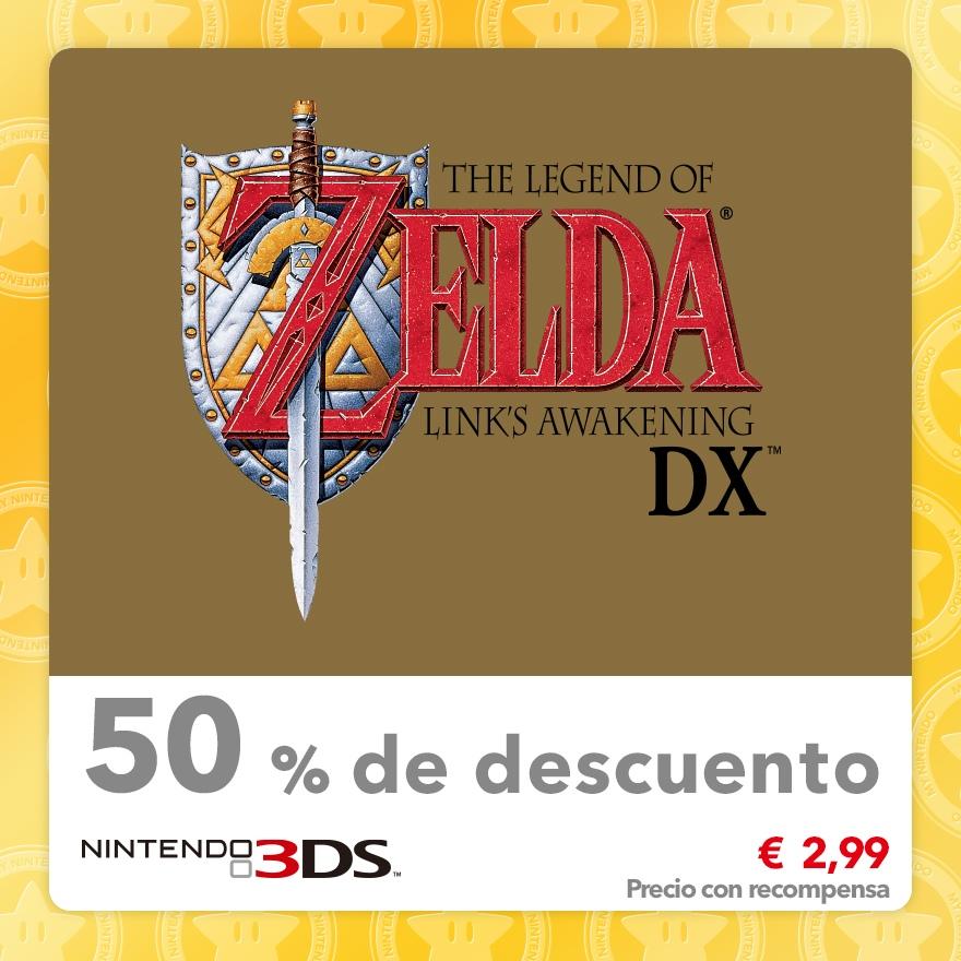 50 % de descuento en The Legend of Zelda: Link's Awakening DX (Consola virtual GBC)