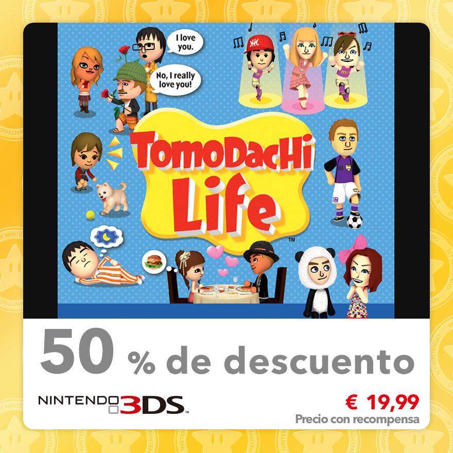50 % de descuento en Tomodachi Life