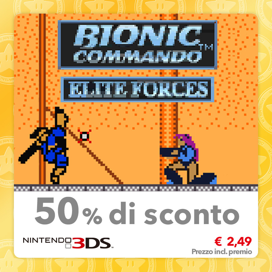 Sconto del 50% su Bionic Commando: Elite Forces (Virtual Console GBC)
