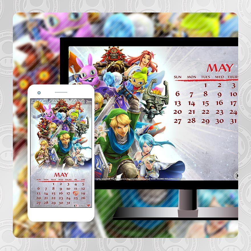 May Legend of Zelda calendar