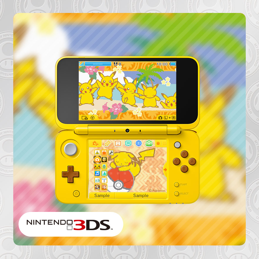 Pikachu & Poké Ball inspired Nintendo 3DS HOME Menu theme