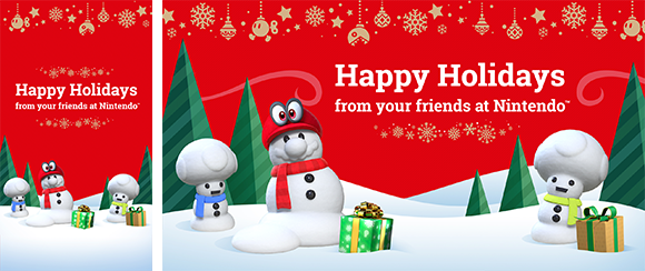 Nintendo Christmas.Wallpaper Happy Holidays Rewards My Nintendo