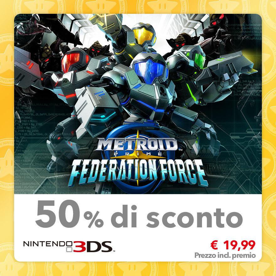 Sconto del 50% su Metroid Prime: Federation Force