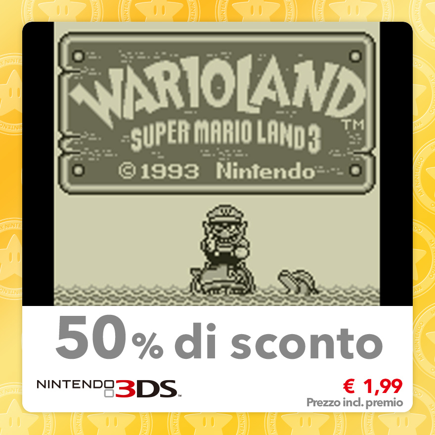 Sconto del 50% su Wario Land: Super Mario Land 3 (Virtual Console GB)