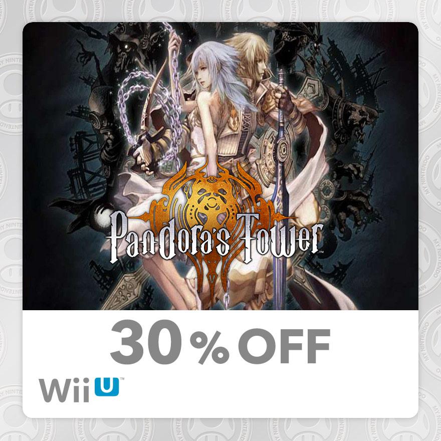 30% Discount on Pandora's Tower (Wii U)
