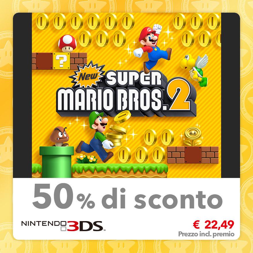 Sconto del 50% su New Super Mario Bros. 2