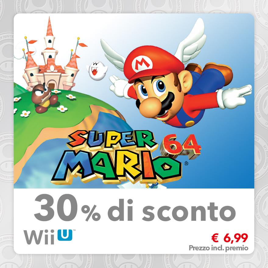 Sconto del 30% su Super Mario 64 (Virtual Console N64)
