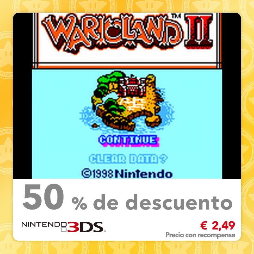 50 % de descuento en Wario Land II (Consola virtual GBC)