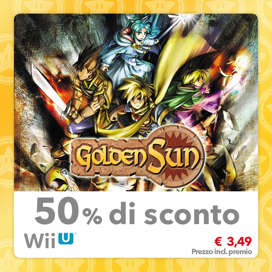 Sconto del 50% su Golden Sun (Virtual Console GBA)
